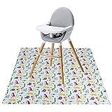 Winthome - Alfombrilla para silla de alta (100 x 43,3 cm), diseño de salpicaduras, resistente al agua y antideslizante (43,3 x 43,3 pulgadas)