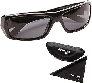 Vision Polarized Sunglasses For Men Women Driving Sports Golf UV Protection Black