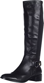 black leather knee high boots size 6