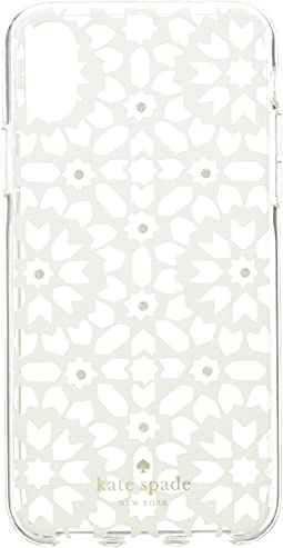 Jeweled Floral Mosaic Clear Phone Case for iPhone® X