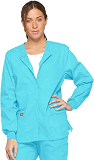 Dickies Women's EDS Signature Scrubs Missy Fit Snap Front Warm-up Jacket