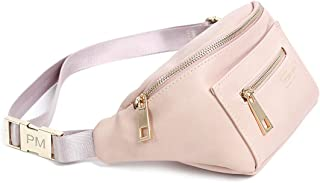 Penny Mae | The Original Fanny Pack Waist Bag | Blush Pink Cute Trendy Womens All Purpose Faux Leather Travel Bag
