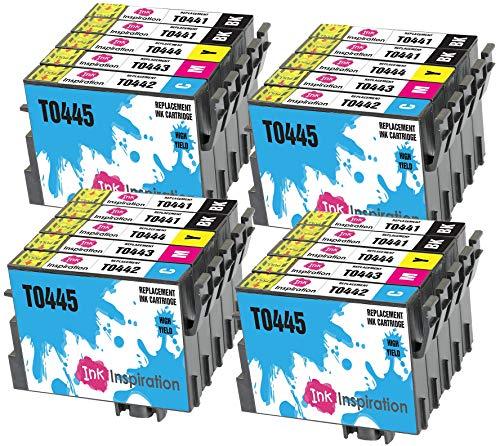 INK INSPIRATION® Ersatz für Epson T0441-T0444 (T0445) Druckerpatronen 20er-Pack, kompatibel mit Epson Stylus C64 C66 C68 C84 C86 CX3600 CX3650 CX4600 CX6400 CX6600, Schwarz/Cyan/Magenta/Gelb