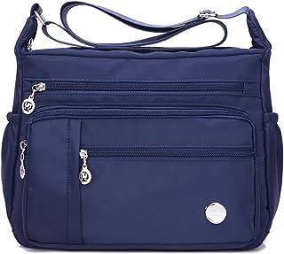 حقائب كتف نسائية من KARRESLY حقيبة سفر حقيبة رسول حقائب من النايلون مع الكثير من الجيوب