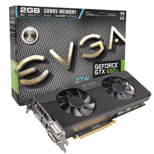 EVGA GeForce GTX 660 Ti 02G-P4-3664-KR Grafikkarte (PCI-e, 2GB, GDDR5 Speicher, Display-Port, HDMI, DVI-D/I, 1 GPU)
