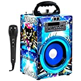 Music Life Altavoz Karaoke Bluetooth Portátil Inlámbrico USB Tarjeta TF Recargable con Radio FM (494-1)