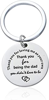 Father In Law Gifts Thank You For Loving Me As Your Own keychains Jewelry Presents For Step Dad From Son Daughter