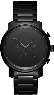 MVMT Chrono Watches | 45 MM Men's Analog Watch Chronograph | Stainless Steel (Black Link)