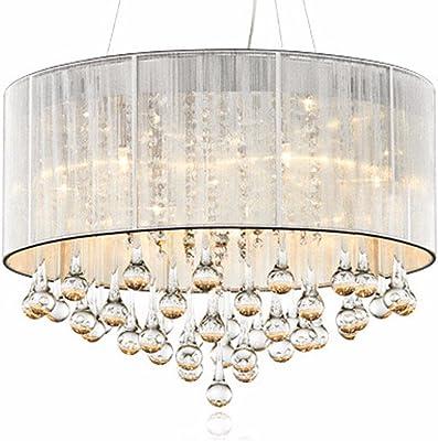 Maxmer Luz de Techo Lámpara Cristal Casquillo E14 4 LED ...