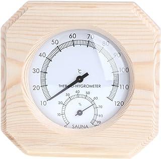 Haia7K4k pour sauna Bois Thermomètre hygromètre Hygrothermograph Température Instrument