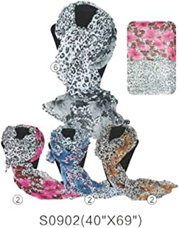 OPT Brand. 12 PCS Wholesale Leopard Cheetah Animal Print Shawl Scarf Scarves Wrap Stole Two-Tone. From New York. USA Trademark Registered Code: 86522969.