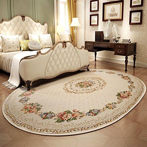 GLJJQMY Tappeto Europeo Salotto tavolino Ovale Tavolo da Pranzo Tappeto Americano Tappeto Rotondo Tappeto (Size : 200 * 290cm)