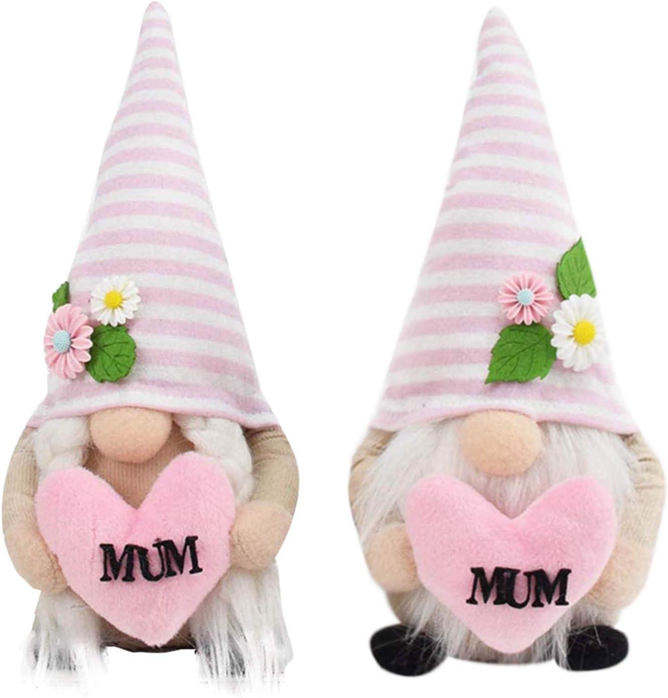 Ranking TOP14 Mother's Day Gnome Plush Gnomes St Dedication Decor Spring Handmade