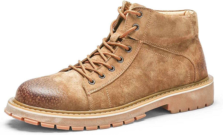 Qiusa Komfort Stiefel für Mnner Durable Non Slip Soft Sohle Breathable Casual Stiefel (Farbe   Braun, Gre   EU 44)