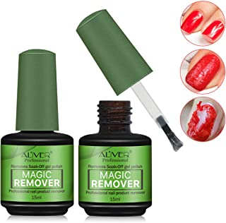 Sponsored Ad - 2 Pack Magic Nail Polish Remover,Quick Professional Removes Soak-Off Nail Polish in 3 Minutes for Natural,G...