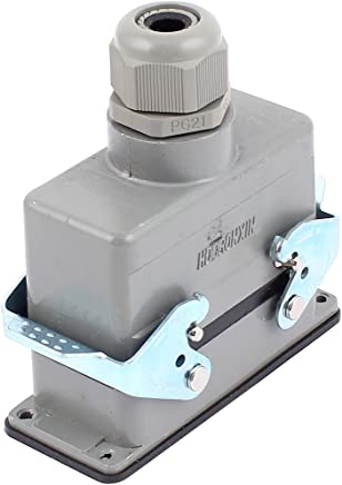 Eléctrica industrial SOURCING MAP sourcingmap 6 pcs Glándulas de cable negro de plástico 14-16 PG13.5.5mm 19,6mm de rosca de Resistentes al agua Accesorios de conductos