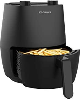 KitchenUp 3.7 Quarts Mini Air Fryer Toaster Oven, 1200W Electric Hot Oven and Oilless Cooker with Easy Use Knobs for Roasting, Air Frying, Reheating and Dehydrating, Dishwasher Safe (Recipe Included)