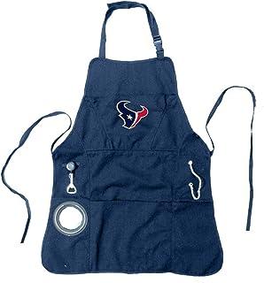 Team Sports America 4AP3812C Houston Texans Mens Apron With Adjustable Neck Strap, Cotton, Blue