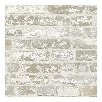 York Wallcoverings Brick Prepasted Removable Wallpaper