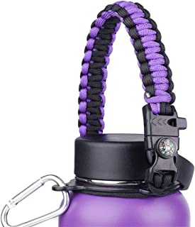 Meweri Water Bottle Handle Paracord Carrier with Safety Ring Holder,Paracord Carrier