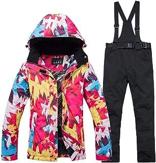 Conjunto de pantalones de chaqueta de esquí para mujer