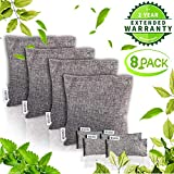 REASDEN Air Purifier Bag Bamboo Charcoal Bag Charcoal Air Purifying Activated Bags Dry Activated Charcoal Odor Absorber Captures and Eliminates Odors(8 Pack