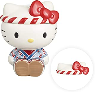 Omatsuri Ceramic Cookie Jar with Airtight Lid - Cute Cat Decorative Cookie Container - Kitchen Food Storage Holder - Large...