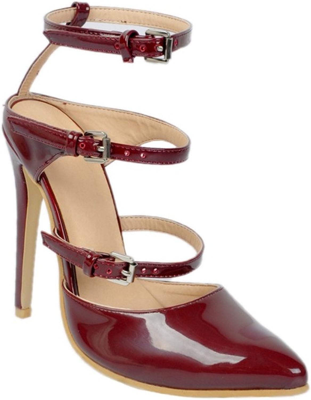CASSOCK Womens Handmade Three Buckles High Heel Simple Pumps shoes
