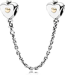 Safety Chain Heart & Crown Charm 791878-05