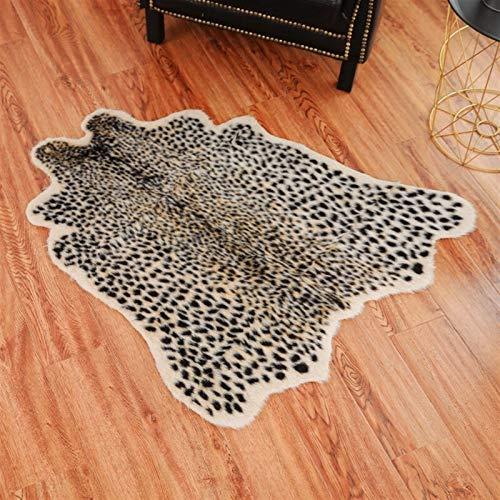 Teppich Faux Leopard Fell-Teppich Imitation Tierhaut Pelt Form Handgemachte...