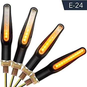 Set da 4 Mini indicatore di direzione LED Anteriore e Posteriore per motociclette Nero Ryde