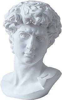 LKXHarleya 6 Inch Classic Greek Michelangelo David Bust Statue Replica Sculpture Figurine for Artist
