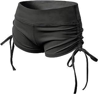 TYUIO Women's Yoga Shorts Workout Active Running Short Pants Adjustable Ties