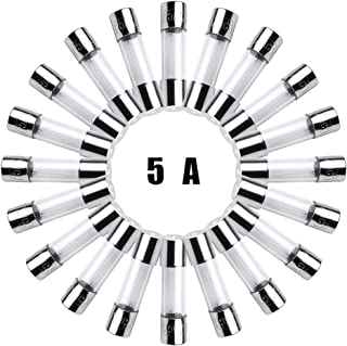20 Pack F5AL Fast-Blow Fuse5A 125V/250V Glass Fuses 5 x 20 mm (5amp) (F5A) by FENGWANGLI