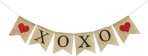 XOXO Burlap Banner | Rustic Valentines Day Decorations | Valentine's Day Banner Garland | XOXO Sign | XOXO Bunting Garland | Photo Props Backdrop