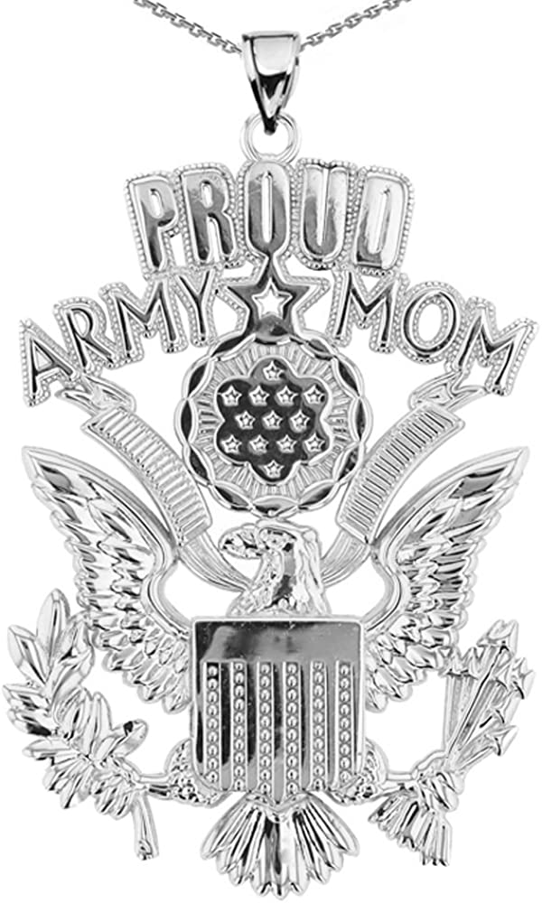 American Heroes Mail order Max 56% OFF U.S. Proud Army Mom with Sterling Silver The Gre