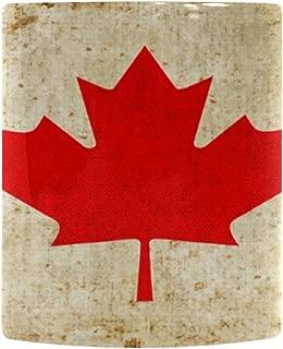 InterestPrint Vintage Canada Flag Heat Sensitive Color Changing Coffee Mug, Red Maple Leaf Morphing Travel Mug Tea Cup Funny, 11 Ounce Mug