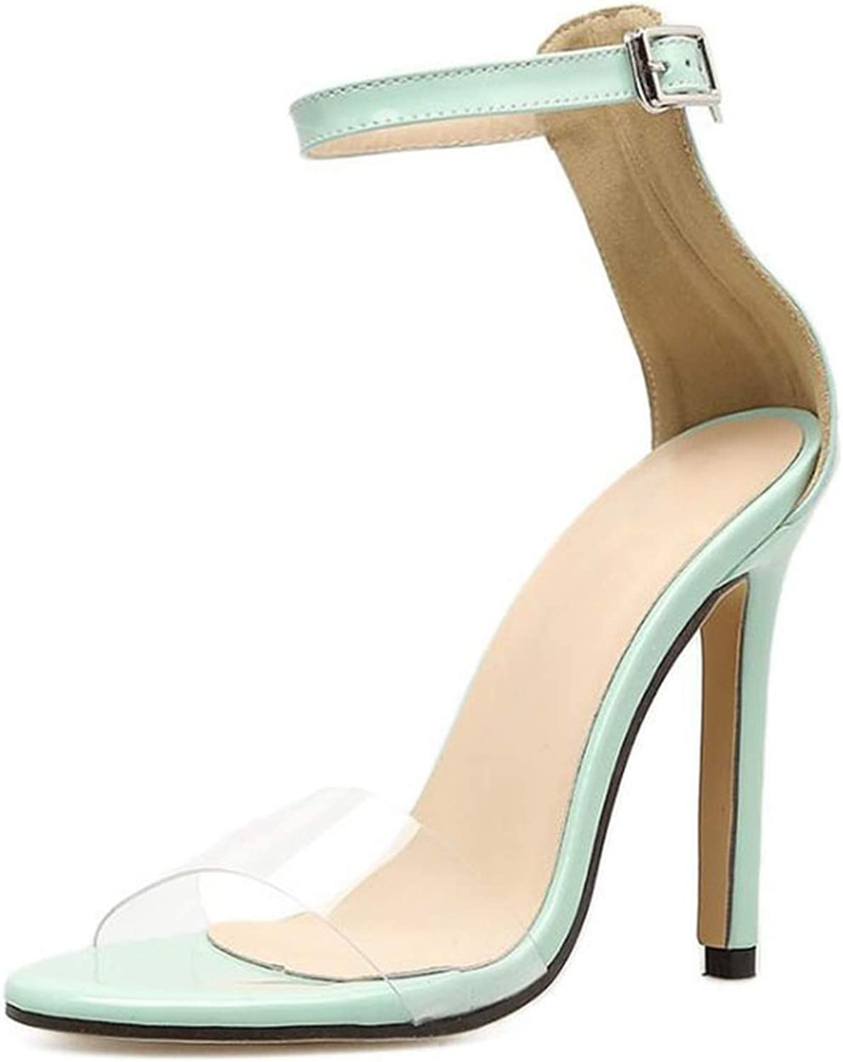 Houfeoans Youngs Sexy Fashion Super High Heels Sandals Candy color Thin Heel Party Office Ladies Sandals
