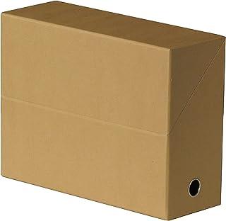 FAST Lot de 5 Boîte transfert toilée Dos de 9 cm Havane
