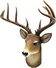 Boxlike9 Shop Head Wall Mount Mule Deer Resin Shoulder Bust Fake Taxidermy Buck Head Man Cave Cabin Decor
