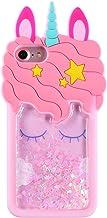 Mulafnxal Quicksand Unicorn Case for iPhone 5 5S 5C, Soft Cute Silicone 3D Cartoon Animal..