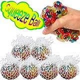 com-four® 6X Anti Stress Ball para niños y Adultos, Pelota de compresión en Red sin Tapa...