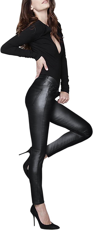 HyBrid & Company Womens Skinny Stretch Fashion Casual Faux Leather Pants