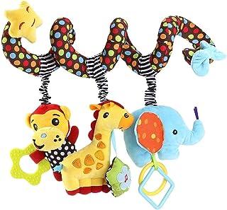 VX-star Baby Pram Crib Ornament Hangings Cute Little Star Shape Design Spiral Plush Toys Stroller and Travel Activity Toy