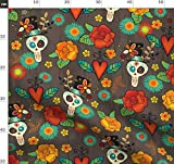 Totenkopf, Tätowierung, Rose, Gänseblümchen, Mexiko