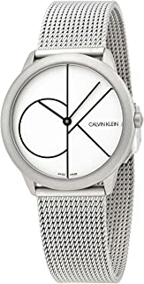 Calvin Klein Minimal Quartz White Dial Ladies Watch K3M5215X