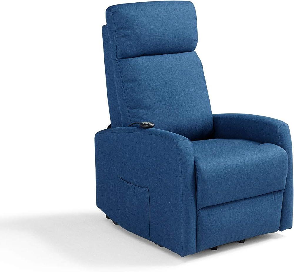Redokasa , poltrona relax in tessuto con doppio motore movimento elettrico con funzione alzapersona seattle