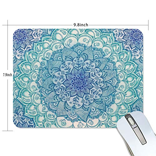 Mandala Flowers Pattern Mouse pad - Almond Blossoms Mousepad Non-Slip Rubber Gaming MousePads Rectangle Mouse Pads for Computers 9.8Inchx7.9Inch Photo #6