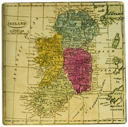 3dRose Print of 1808 Map of Ireland and Oceans Mouse Pad (mp_195751_1)