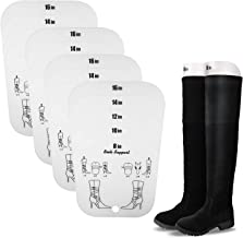 JJDPARTS Boot Shapers Form Inserts for Women and Men Trimmable Boots Support 5 Sizes in 1 Sheet (2 Pairs)